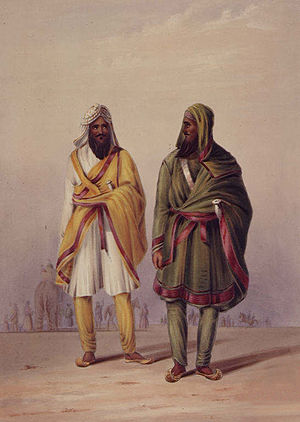 Kharak Singh - A portrait of the attendants on the Raja Kharruk Singh