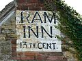 Ram Inn pub sign, Potters Pond, Wotton under Edge - geograph.org.uk - 775521.jpg