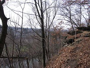 Harmony, Pennsylvania - Rapp's Seat overlooking Harmony and Connoquenessing Creek