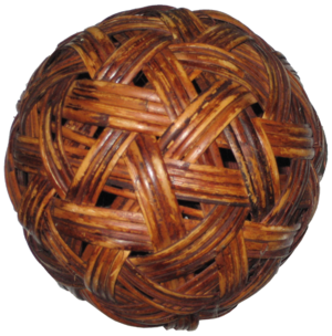 Sepak takraw - A sepak takraw ball made out of rattan