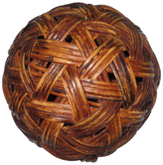 Sepak takraw - A sepak takraw ball made out of rattan