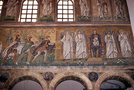 Ravenna - Sant'Apollinare Nuovo, l'adorazione dei Magi
