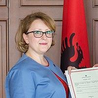 Ravesa Lleshi of Albania (cropped).jpg