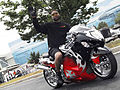 Red and black Hayabusa at Black Bike Week Festival 2008.jpg