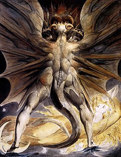 William Blake, The Great Red Dragon and the Woman Clothed in Sun.