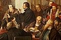 Religionsgespräch zu Marburg 1529 Detail Luther Zwingli August Noack.jpg