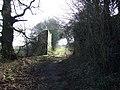 Remains of old railway bridge - geograph.org.uk - 690445.jpg