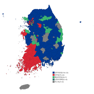 Republic of Korea legislative election 1992 districts result.png