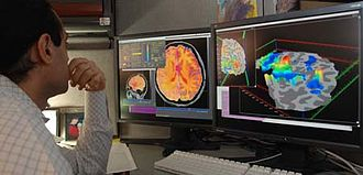 Functional magnetic resonance imaging - Image: Researcher test