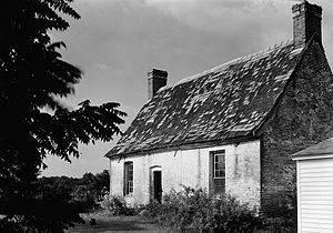 Hall and parlor house - An example from the colonial period of the United States, Resurrection Manor near Hollywood, Maryland was built c.1660 and demolished 2002.