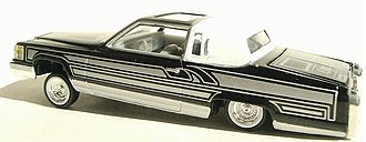 Revell - A built Cadillac low-rider.