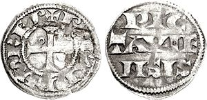 Richard I of England - A silver denier of Richard, struck in his capacity as the Count of Poitiers