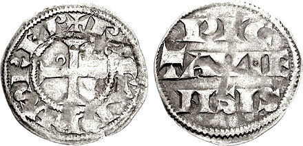 A silver denier of Richard, struck in his capacity as the Count of Poitiers Richard I pictavinus 722697.jpg