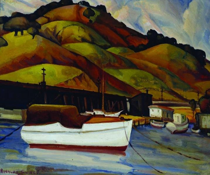File:Rinaldo Cuneo, California Hills With White Boat.jpg
