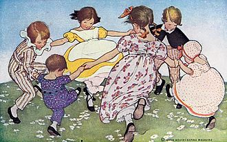 Ring a Ring o' Roses - Illustration by Jessie Willcox Smith, from The Little Mother Goose (1912)
