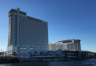 Riverside Resort Hotel & Casino - The property as seen from the Colorado River in 2018
