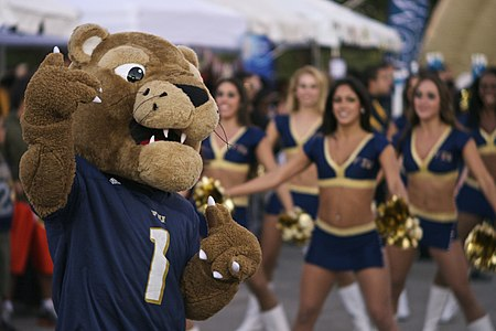 Roary and the FIU Dazzlers during Homecoming Roary and the FIU Dazzlers.jpg