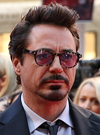 Robert Downey Jr. at the Avengers Assemble premiere at Westfield Shopping Centre in Shepherd's Bush, London 2012.