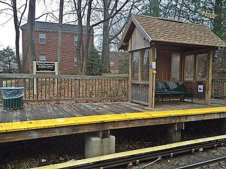Roberts Road station station on SEPTA Norristown High Speed Line