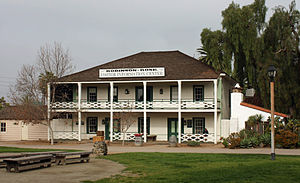 John Judson Ames - Built in 1850, the Robinson-Rose House contained the offices of the Herald when they were moved to Old Town, San Diego.