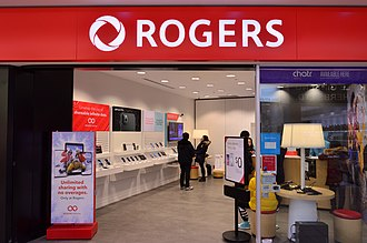 A Rogers store offering services from Rogers Wireless, a wireless telephone subsidiary of the company RogersFirstMarkhamPlace.jpg