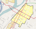 Roseburg Downtown HD boundary map.png