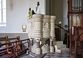 Rosscarbery St Fachtna's Cathedral Pulpit II 2017 08 30.jpg