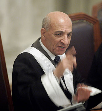 Rauf Rashid Abd al-Rahman - Judge Rouf overseeing the Iraqi High Tribunal. May 2006. Baghdad, Iraq.