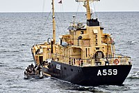 Royal Danish Navy auxiliary KDM Sleipner (A559) underway in June 2015.JPG