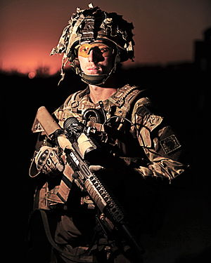 40 Commando - Portrait of a Royal Marine of Bravo Company 40 Commando Royal Marines.