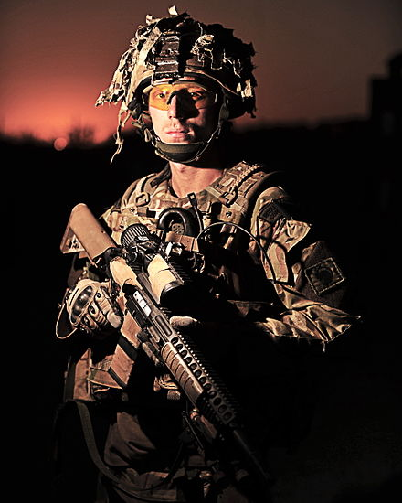 Portrait of a Royal Marine of Bravo Company 40 Commando Royal Marines. Royal Marine in Afghanistan MOD 45154661.jpg