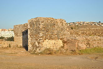 Tangier - Surviving parts of the wall of Roman Tingis