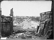 Ruins of Petersburg, R.R. Bridge, Richmond, Va. April, 1865 - NARA - 528974