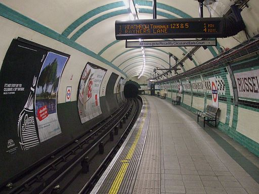 Russell Square stn westbound look east