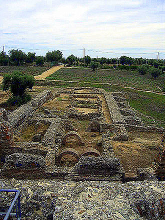 Roman ruins of São Cucufate - The thermae in the Roman ruins of the villa