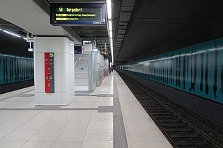 Stadthausbrücke station railway station in Hamburg, Germany
