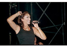 Sabrina Salerno in concerto a Venezia, estate 2009