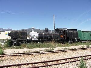 Avontuur Railway - SAR Class NG G13 No 80 plinthed at Joubertina