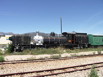 Avontuur Railway - SAR Class NG G13 No 80 plinthed at Joubertina