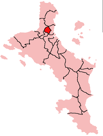 Mont Buxton - Location of Mont Buxton District on Mahé Island, Seychelles