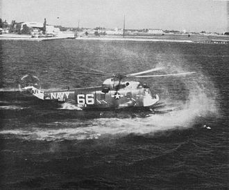 Sikorsky SH-3 Sea King - SH-3A landing on the sea in 1964