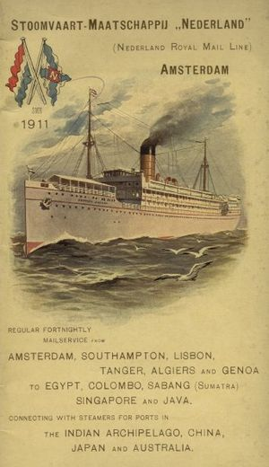 Netherland Line - Company poster from 1911