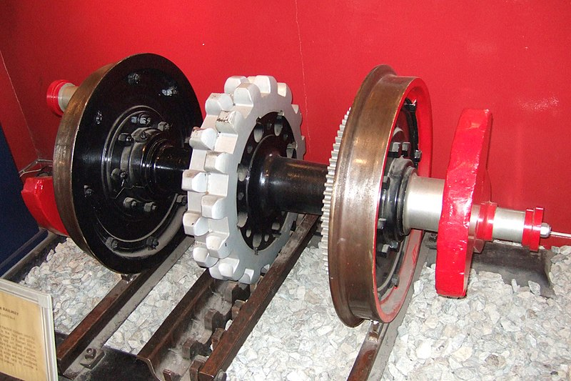 Файл:SMR Axle on display at Llanberis 05-07-24 20.jpeg