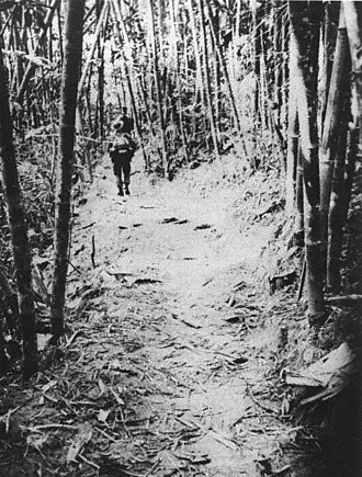 Ho Chi Minh trail - NVA troops on the Trail (photo taken by a U.S. SOG recon team).