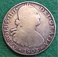 SPANISH PILLAR DOLLAR, PIECE OF EIGHT, CHARLES IV of SPAIN 1803 a - Flickr - woody1778a.jpg