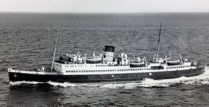 SS Snaefell (1948) - Image: SS Snaefell pictured in Steam Packet service