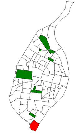 Location of the Patch neighborhood within St. Louis