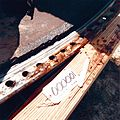 STS-51-L Recovered Debris (O-Ring Tracks on Right SRB Joint) - GPN-2004-00010.jpg