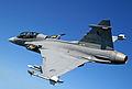 Saab JAS-39 Gripen (Czech Air Force) D version (6154923355).jpg