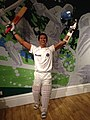 Sachin Tendulkar figure at Madame Tussauds London (31238062315).jpg